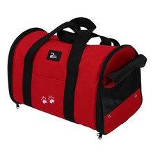 Portable et doux L animal de compagnie chien chat voyage transporteur sac sac à main sac à bandoulière double usage 2 couleurs