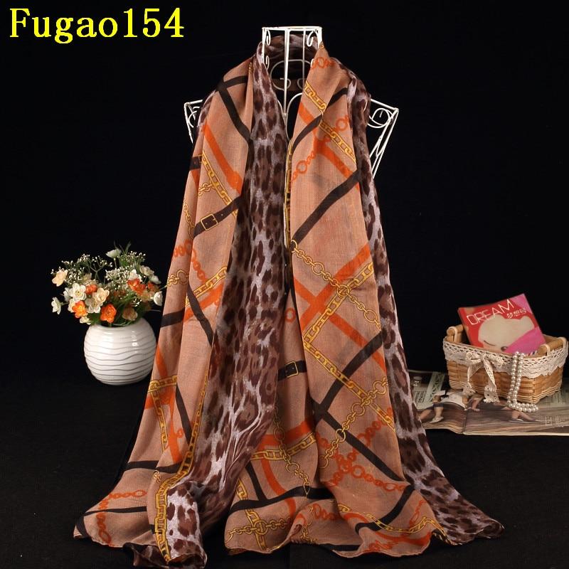 Fashion Leopard Cotton Stripes Long Big Plaid Shawl Women Chains Print   Scarves   Female Chevron Animal Print Patchwork   Scarf     Wrap