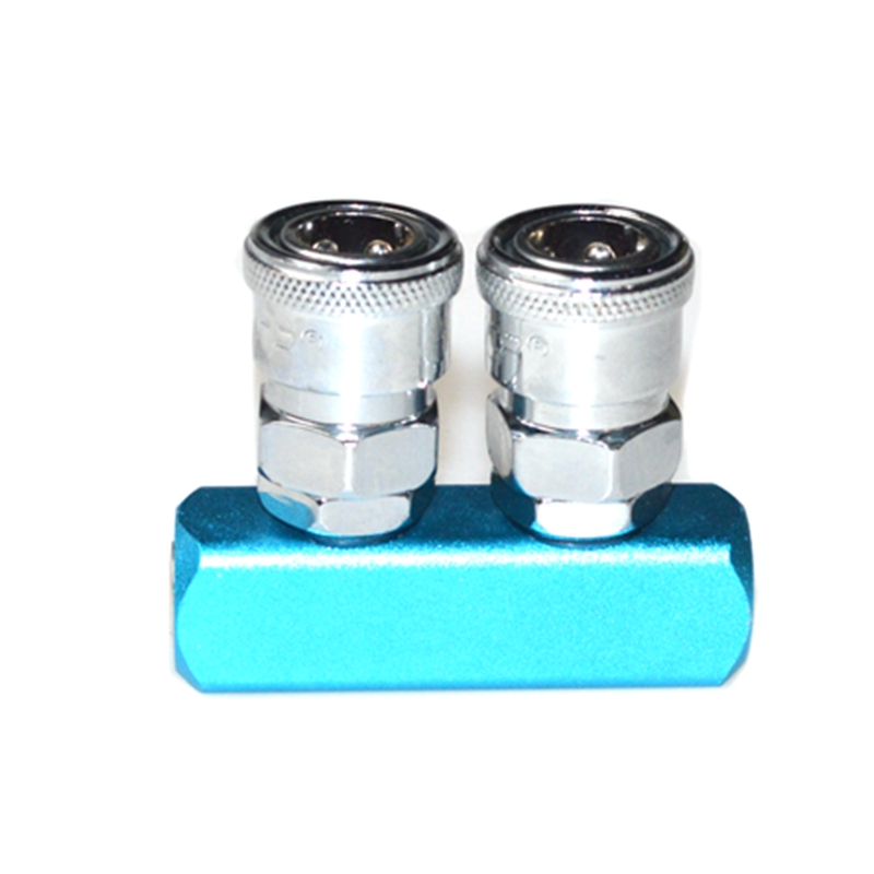 Pneumatic 2 Way Air Hose Quick Coupler Socket Connector  Fitting free shipping 30pcs peg 10mm 8mm pneumatic unequal union tee quick fitting connector reducing coupler peg10 8