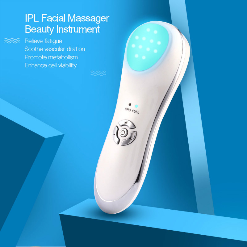 Multifunction LED Photon Therapy Beauty Device Tighten Lifting Whitening Anti-aging Acne Ultrasonic Vibration Facial Massager 39
