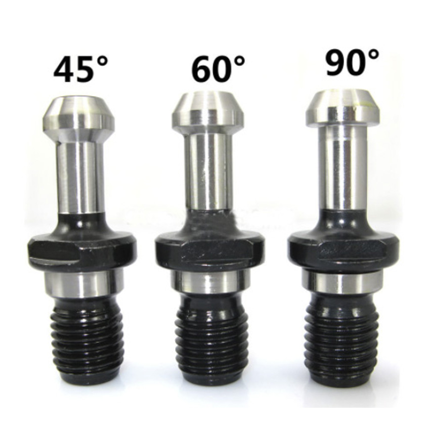 Купить с кэшбэком BT30 45 Degree M12 Thread Pull Stud retention knob for CNC Milling Tool Holder bt40 machining tools collet chuck lathe