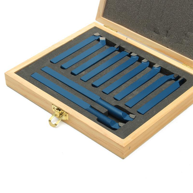 ponta carboneto torneamento externo chato bit 8 10 12mm