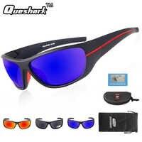 Queshark UV400 anteojos de sol para pescar polarizados gafas ciclismo bicicleta de conducción de motocicletas de deporte de senderismo pesca gafas