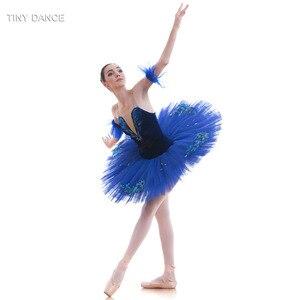Image 4 - Tulle rigide bleu Royal, 7 couches de Costumes de danse classique, robe Tutu en crêpe, pour le Ballet professionnel BLL027