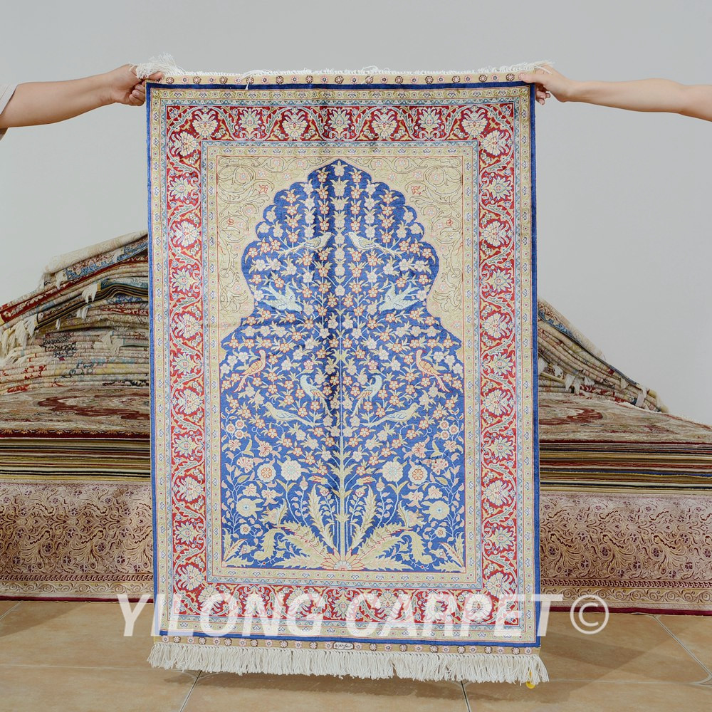 Yilong 2 7 X4 Hereke Silk Carpet Tree Of Life Handmade