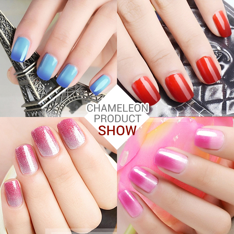 Azure Chameleon Gel Nail Gel Thermo Varnish Temperature Change Nail ...