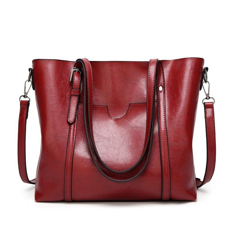 Genuine leather Women Tote handbags