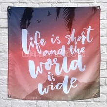 Text label Poster Banners Dormitory bedroom living room classroom Wall Decoration Hanging Art Waterproof Cloth Flags Painting(China)