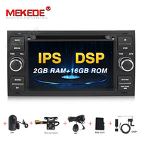 MEKEDE Car Multimedia Player GPS Android 9.0 2 Din For Ford/Mondeo/Focus/Transit/C MAX Car Radio Bluetooth DVR Autoradio DSP