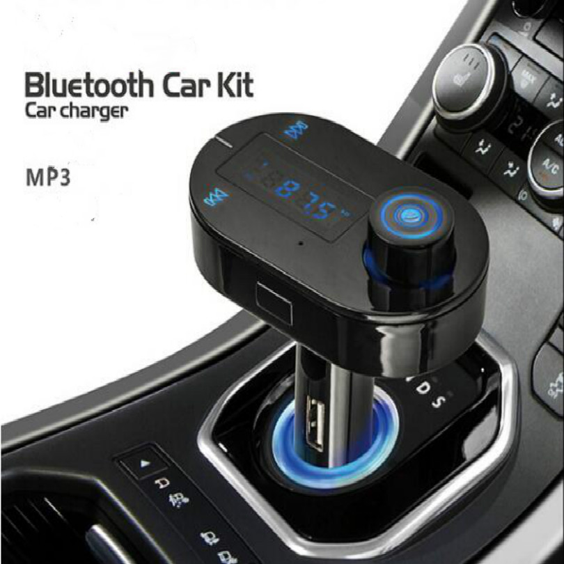 16G Memory cigarette lighter bluetooth car fm transmitter bluetooth mp3 mp4 car bluetooth handsfree kit in Bluetooth Car Kit from Automobiles Motorcycles