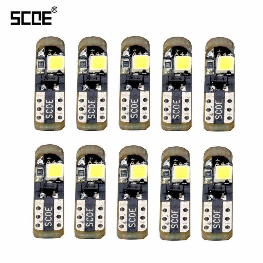 SCOE 10pcs New <font><b>T5</b></font> 3SMD Dashboard <font><b>LED</b></font> 12V/<font><b>24V</b></font> 12516 13516 W1.2W Gauge Instrument Light Auto Car <font><b>LED</b></font> bulbs 2835 SMD Super Bright image