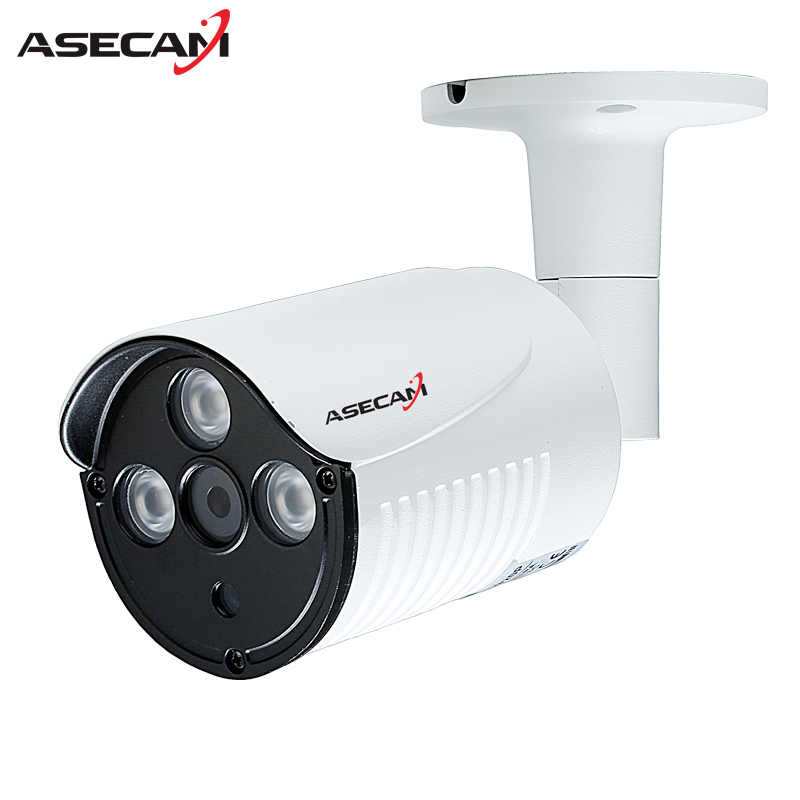 New 720P IP Camera CCTV 3* IR Array LED 48V POE White Bullet Metal Waterproof Outdoor Onvif WebCam Security Surveillance p2p seven promise 720p bullet ip camera wifi 1 0mp motion detection outdoor waterproof mini white cctv surveillance security cctv
