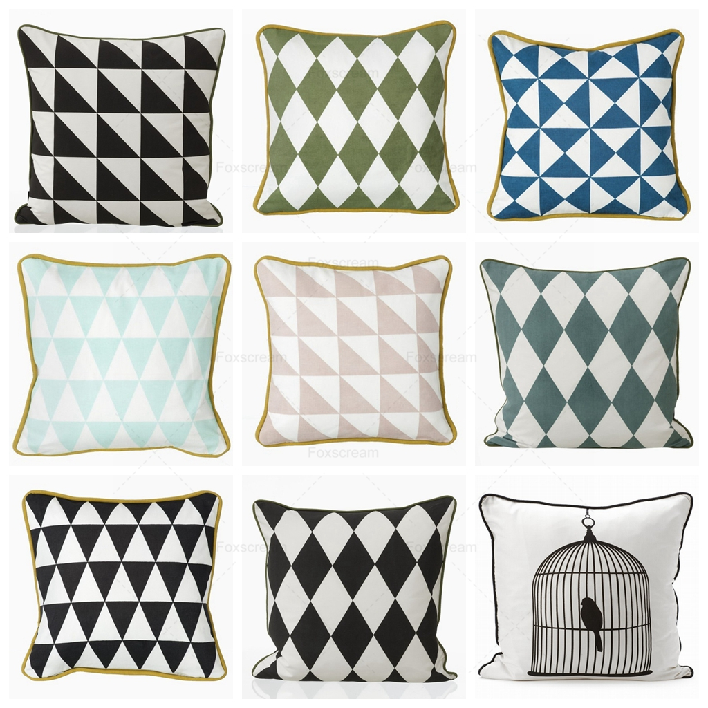 Nordic Decorative Pillows Cases Geometric Cushions Covers Home