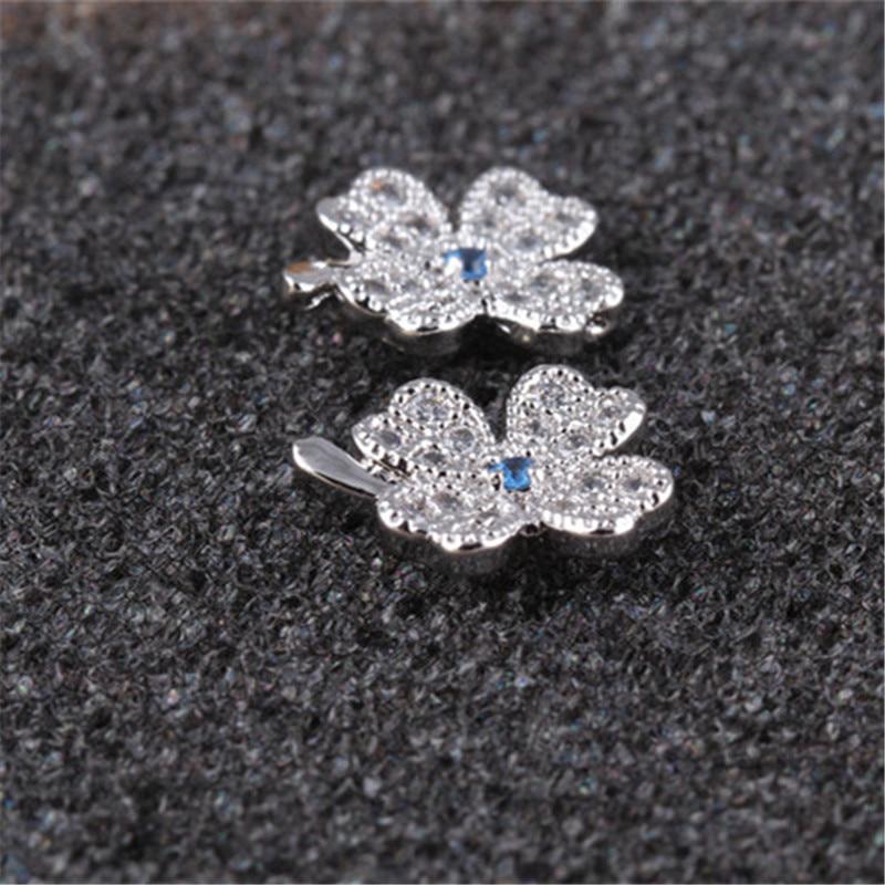 RONGQING Fashion Lucky Zircon Clover Ականջօղեր - Նորաձև զարդեր - Լուսանկար 4