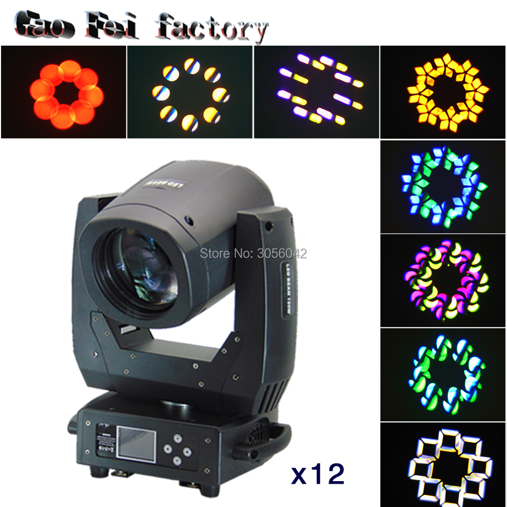 12PCS/LOT 150w beam spot zoom moving head led moving head led for dance halls, KTV, PARTY