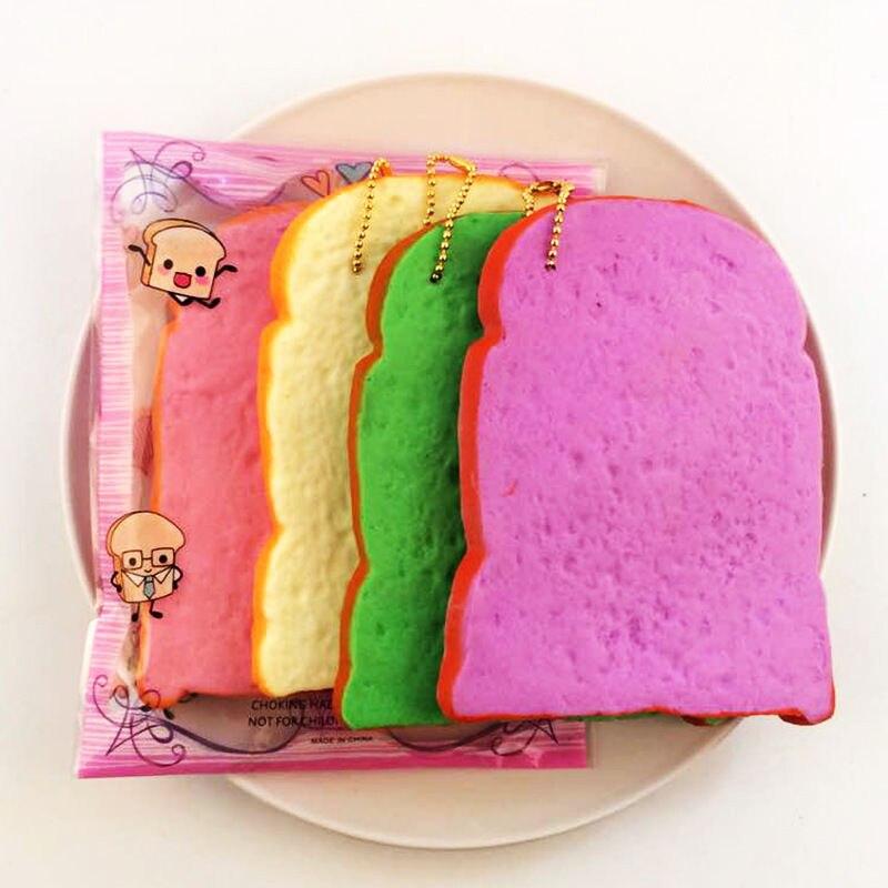 Стресс снижение милые забавные игрушки Игрушки-приколы мягкими Мягкий красочный тост замедлить рост Стресс помощи Squeeze Игрушка ремешком Лидер продаж