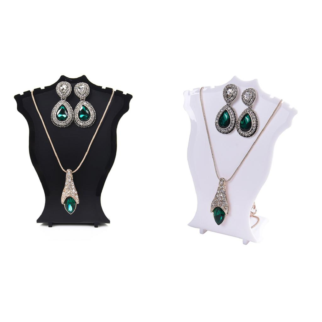 2 Pieces Novelty Plastic Sector Stud Earrings Necklace Chain Jewelry Display Stand Organizers