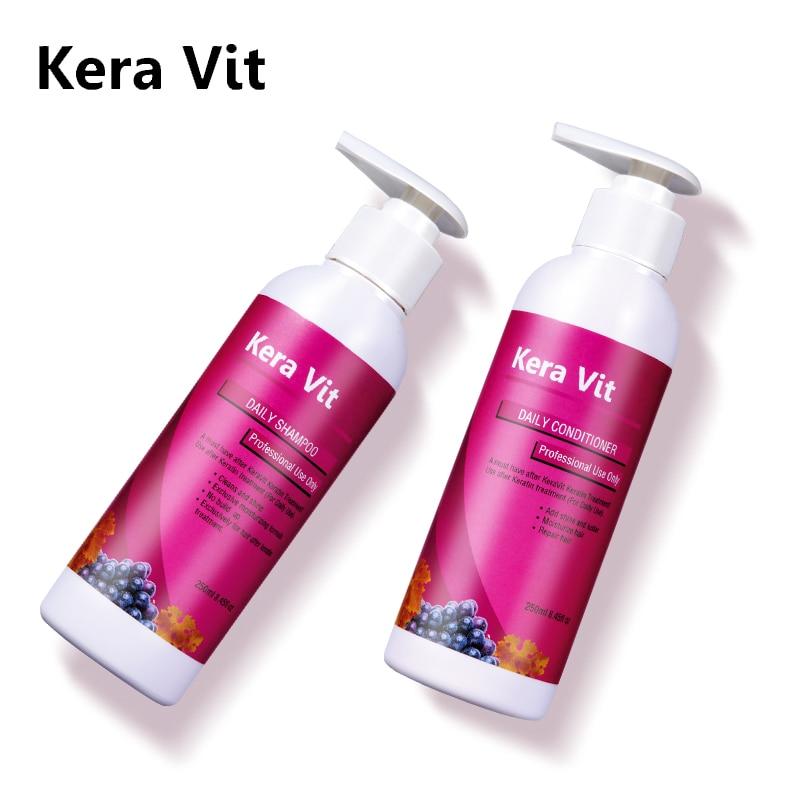 Newest Mini 250ml Daily Shampoo+250ml Daily Conditioner Hair Care and Treatment after Keratin Straighten Hair Free Shipping alterna шампунь детокс caviar clinical daily detoxifying shampoo 250ml