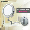 AFSEL Makeup Mirrors LED Wall Mounted Extending Folding Double Side LED Light Mirror 10x Magnification Bath mirror Toilet Mirror