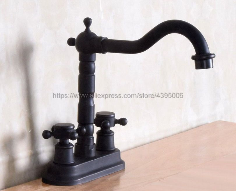 Shop Classic High Spout Oil Rubbed Bronze Bathroom Faucet: Oil Rubbed Bronze Dual Handle Swivel Bathroom Kitchen Sink