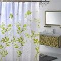 180x180 cm Árvore Verde PEVA Banheiro Impermeável Cortinas de Chuveiro Com Ganchos Plásticos U1020
