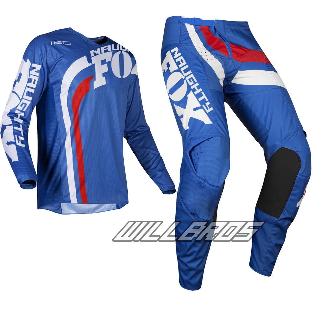 2019 MX 180 Cota bleu Jersey pantalon adulte Motocross vtt BMX ensemble de vitesse