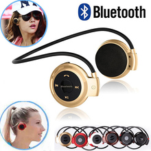 factory price Mini 503 Bluetooth Headset Headphone Music Neckband MP3 wireless sport Earphones with Mic support storage card
