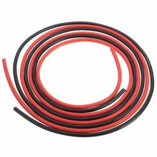 1 M Rouge 1 M Noir Fil De Silicone 6AWG 7AWG 8AWG 10AWG 12AWG 14AWG 16AWG 18AWG 22AWG 20AWG Résistant À La Chaleur En Silicone Souple Silice Fil Câble(China)
