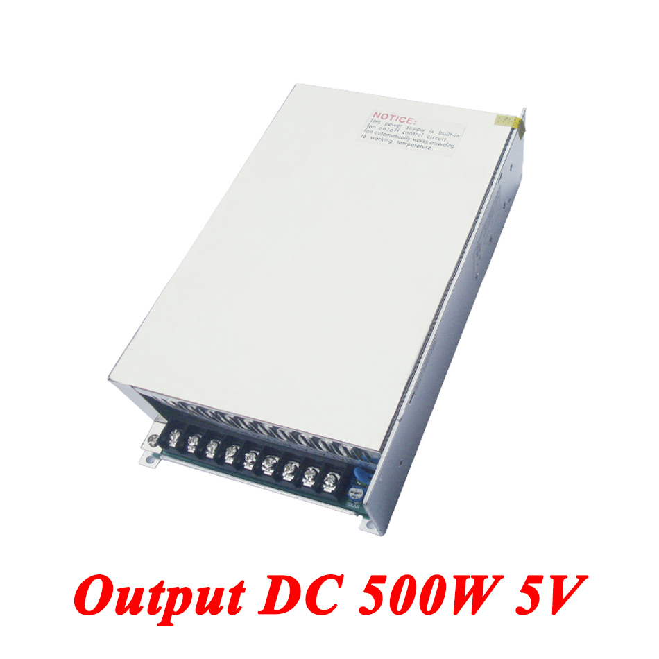 S-500-5 Switching Power Supply 500W 5v 70A,Single Output AC-DC Converter For Led Strip,AC110V/220V Transformer To DC,led Driver
