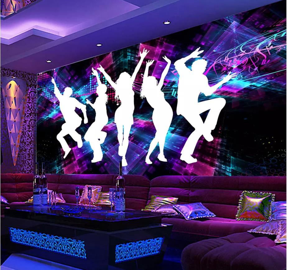 Custom <font><b>Photo</b></font> <font><b>Wallpaper</b></font> Large Wall Painting Background Wall Paper Madden Dance Cool Bar KTV <font><b>Sexy</b></font> Beauty <font><b>Mural</b></font> image