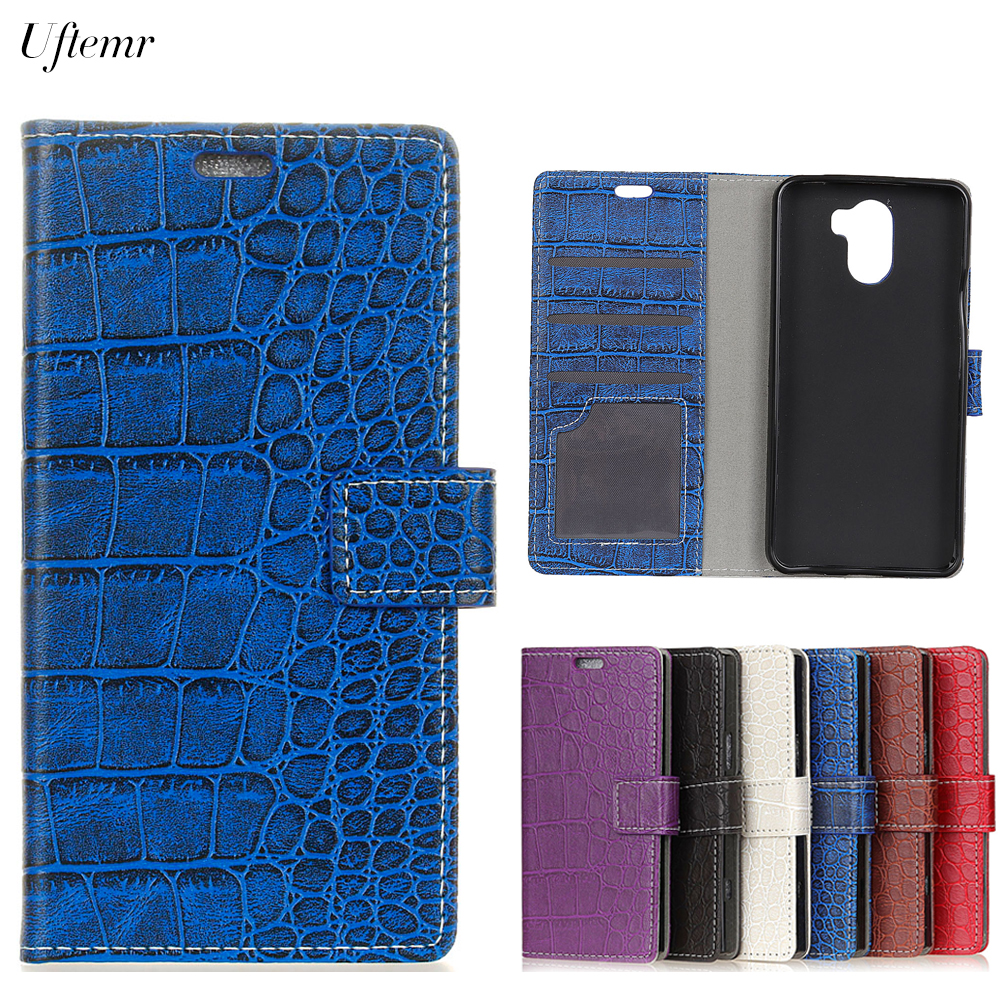 Uftemr Vintage Crocodile PU Leather Cover For Wileyfox Swift 2X Protective Silicone Case Wallet Card Slot Phone Acessories