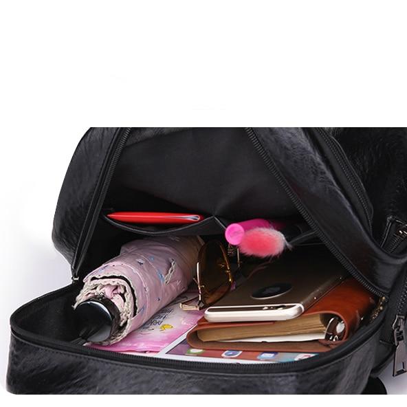 Fashion New Travel Bacpaok Korean Women Female Rucksack Leisure Student School Bag Soft Pu Leather Women Bag 226 #6