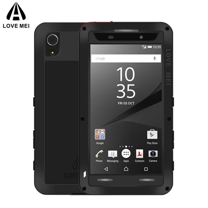 Amor MEI de Metal de aluminio para Sony Xperia Z5 compacto/Z5 Mini armadura a prueba de golpes resistente al agua cubierta para Sony Xperia z5 Premium