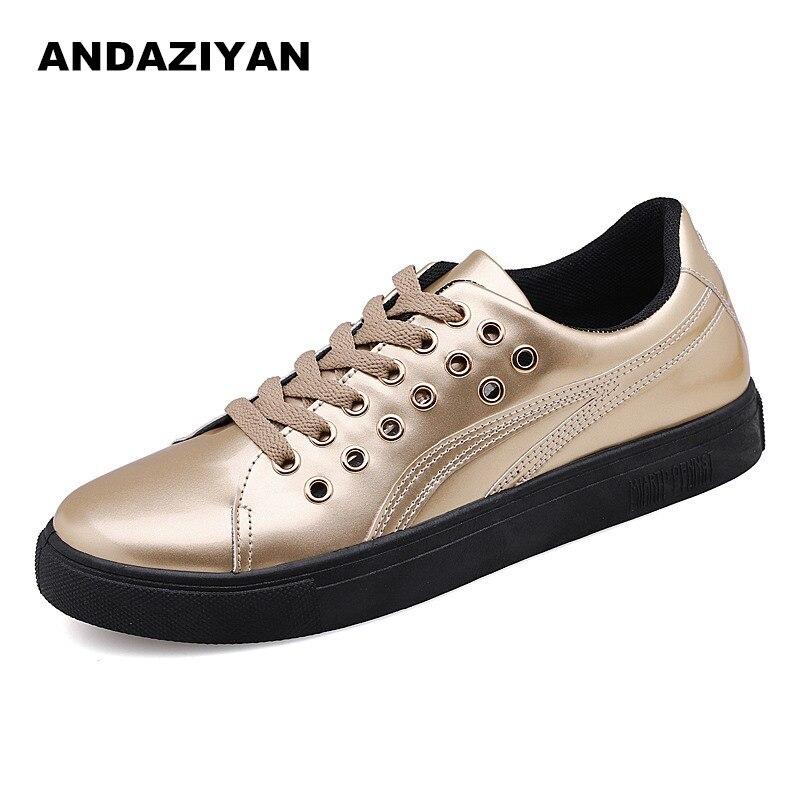 Hommes brillant miroir chaussures décontractées 2019 nouvelle version coréenne de la sauvage chaussures tendance cheveux styliste chaussures pour hommes