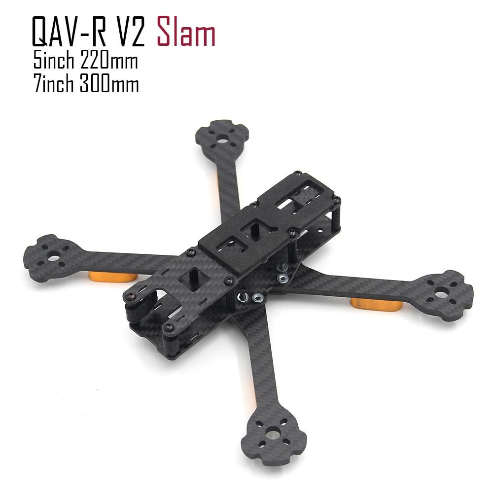 QAV R V2 SLAM 5inch 220 220mm 4.5mm arm/ 7inch 300mm with 5mm Arm FPV Drone Quadcopter frame carbon fiber better Martian IV 220