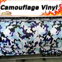Snow Black Blue Vinyl Film Camouflage Car Sticker Wrap Arctic Camo Vinyl Sheet For Vehicle Body Wrap Graphics Air Bubble Free