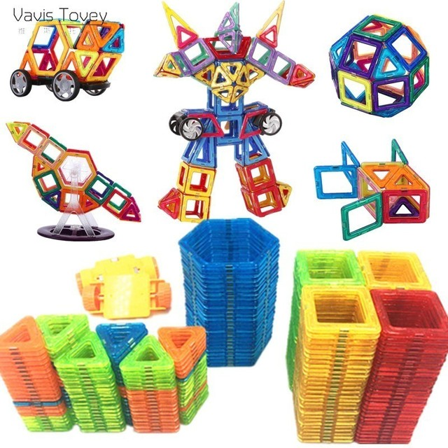 Vavis Tovey 253-47PCS Magnet Toys Building Blocks Magnetic Construction Sets Designer Kids toddler Toys brinquedos Gifts