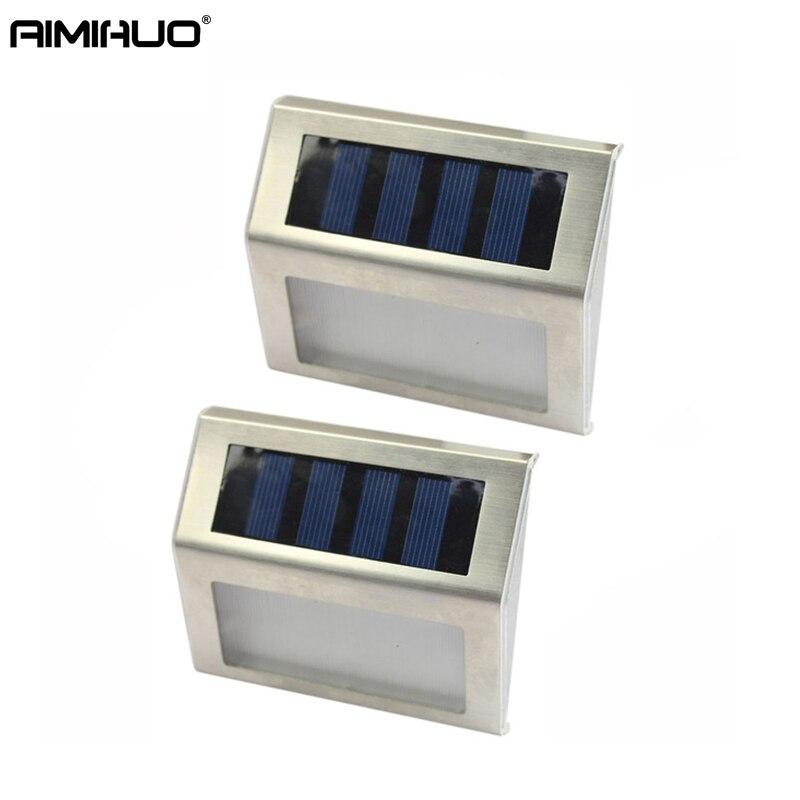AIMIHUO Lampe Extérieure 3 LED Solaire Capteur Automatique Sensible à La Lumière Fonction Étanche Mur Lampe Jardin Appliques Murales Lampe Solaire