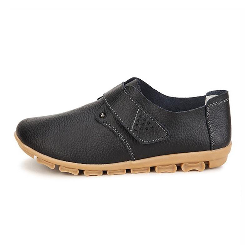 Nuevos Mocasines Madre Zapatos Mocasines de Gancho y Lazo de Las Mujeres de Cuer