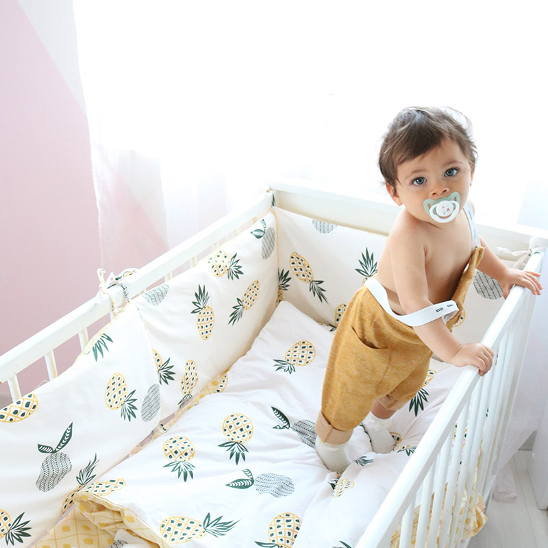 3 Pcs <font><b>Baby</b></font> <font><b>Bedding</b></font> <font><b>Set</b></font> Bed Linen For Children Pure Cotton Crib Cot Kit Include Duvet Cover Pillowcase Flat Sheet For Girls Boys image