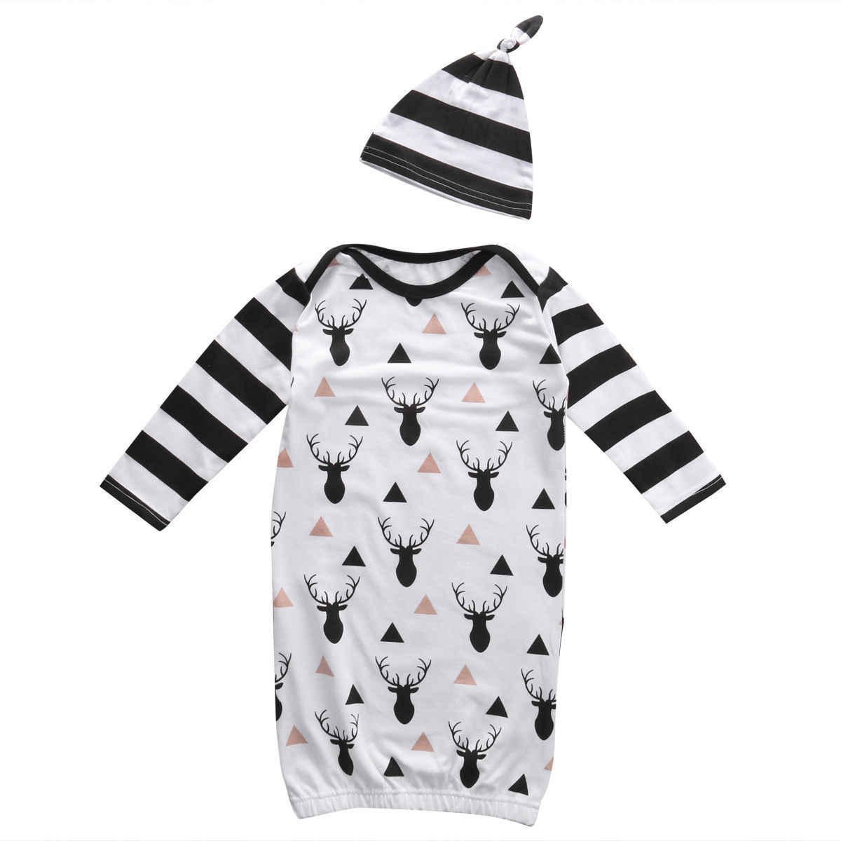 9f42e0bb7 Detail Feedback Questions about 2pcs Newborn Infant Toddler Kids Baby Boy  Girl Clothes T shirt Rompers Hat Sleepwear Blanket Sleepers Outfit Set on  ...
