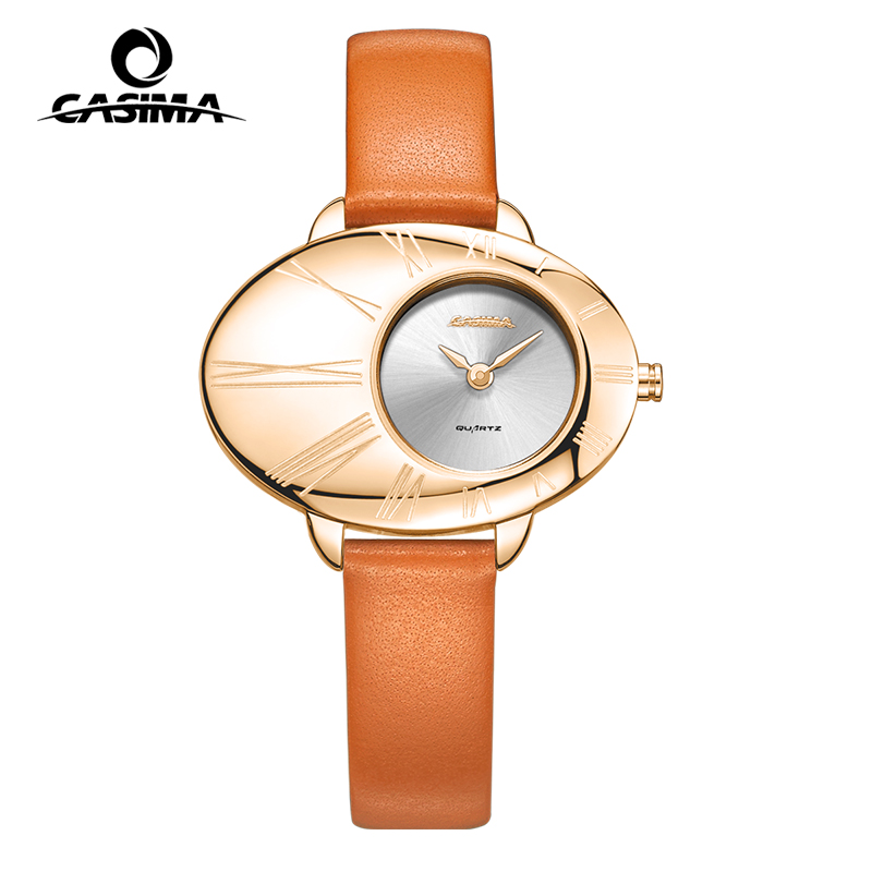 все цены на Luxury Brand CASIMA Women Watches montre femme Fashion Grace Quartz Ladies Watches Leather Waterproof Female Watch reloj mujer онлайн