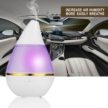 Universal USB Humidifier Drop-shaped Car Air Purifier Humidifier for Car, Home, Office Use