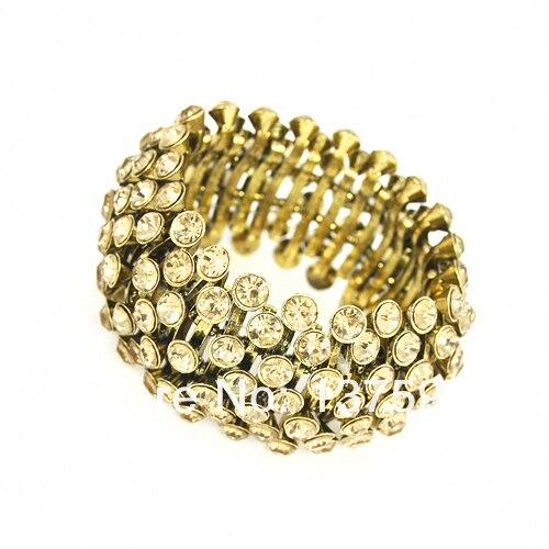 FLOLA Clearance High Quality Cubic Zirconia Gold Crystal Bangle Bracelet for Women Fashion Party Wedding Jewelry brtf76