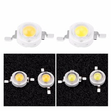 3W High Power LED Chip Beads Light-Emitting Diode Chips SMD for DIY Lighting Fixtures White недорого
