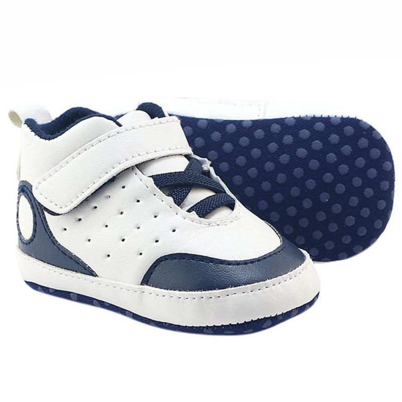 0-18 Mounth Soft Bottom Sneakers Baby Boys Girls First Walkers PU Leather Baby Non-slip Toddler Shoes Y13