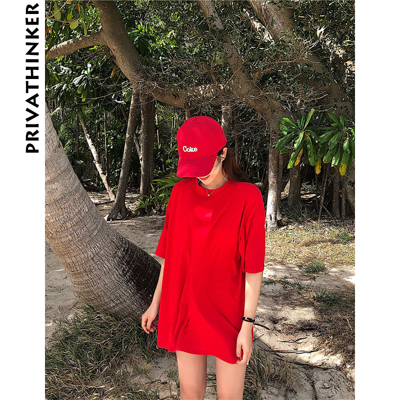 Privathinker Man Cotton Tshirt Male Solid Color T-shirt 2018 Summer Harajuku Oversized T ...