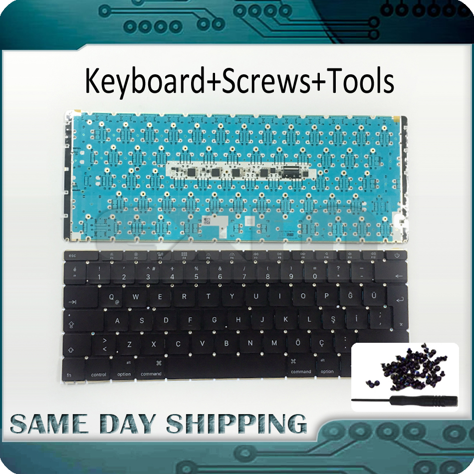 Early 2015 New A1534 Turkish Keyboard for MacBook Retina 12 A1534 Keyboard Turkish Turkey TR with Backlight MF855 MF865 EMC2746 topcase apple new macbook 12 chevron series keyboard cover silicone skin for macbook 12 inch with retina display model a1534 newest version 2015