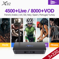 X92 France IPTV Box S912 Octa core Android 3G 32G With Full HD IPTV SUBTV Subscription