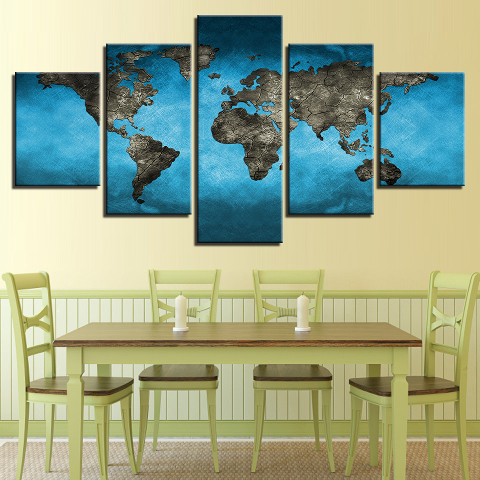 Canvas Wall Art Pictures HD Prints Living Room Home Decor 5 Pieces ...